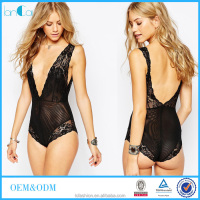 Hot Lancai Fashion sexy transparent adult pajama bodysuit women