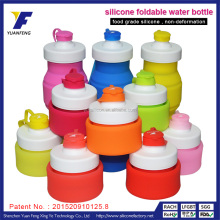 OEM manufacturer BPA free silicone compressible water bottle ,foldable sport water bottle ,500ml sport water bottle