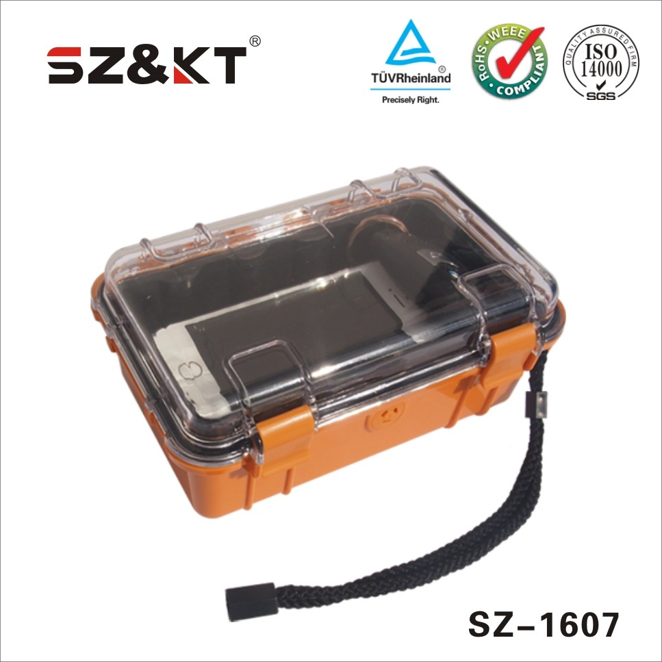 Dustproof waterproof Plastic hard transport case for devices protection