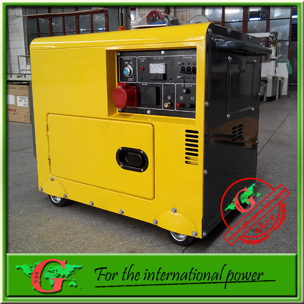 Sound proof diesel generator 6Kva generador electrico with single cylinder diesel generator