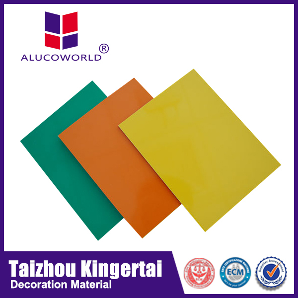 Alucoworld outdoor aluminum composite panel sign board material/acp
