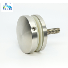 High quality adjustable SS 304 316 round stainless steel glass rail standoff fitting glass holder point fixing