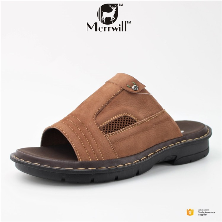 Genuine Leather Men Shoes All Kinds of Slippers