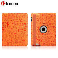 Fashion style new design pattern cover leather case for ipad 2 3 4 ,ipad mini