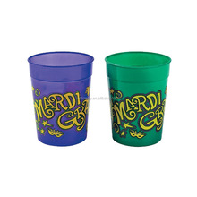 10 ounce 280ml Cheap Innovative Complete Custom Design Printed Deluxe Plastic Mardi Gras Cups Wholesale Distributor Manufacturer