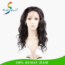 Body Wave long human hair lace wigs,china hair factory supplier wholesale 130% density front lace wigs for sexy black woman