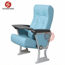 Popular classical luxury stainless steel fixed banquet aluminium folding conference hall auditorium seat theater cinema chair