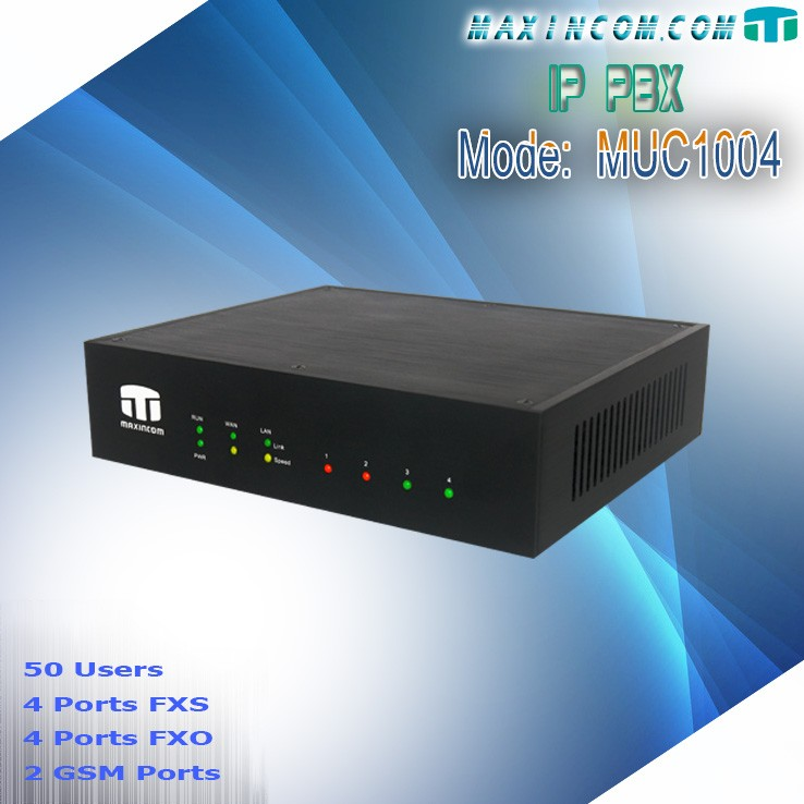 Up to 4 FXO/FXS ports or 2 Gsm ports voip solutions 4 analog extensions