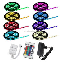 RGB 5050 SMD Waterproof LED Light Strip Flexible + IR Remote 12V Power Kit