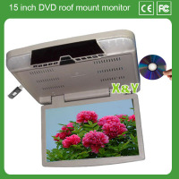 15 inch car roof mount monitor car dvd and USB SD car monitor (XY-156)
