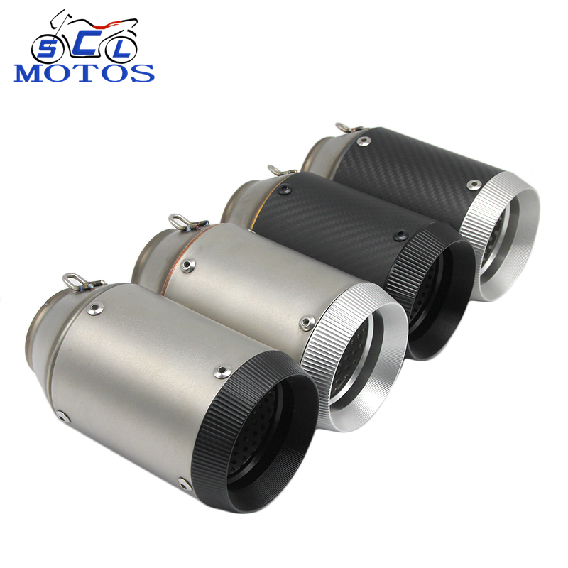 51MM Motorcycle Exhausts Motocicleta Motocross Tubo <strong>Muffler</strong> Fit For CB400 CBR125 YZF R1 R6 FZ1 FZ6 Z750 Z800 TMAX530