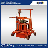 CE approved Small mobile brick machine, small mobile block machine ;