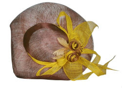 Formal Hat Made from Abaca Fibre