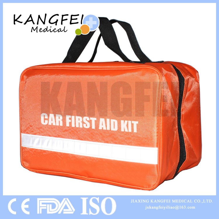 2017 New Arrival KF72 Nylon Fabric Roadside Emergency Car First Aid Kit