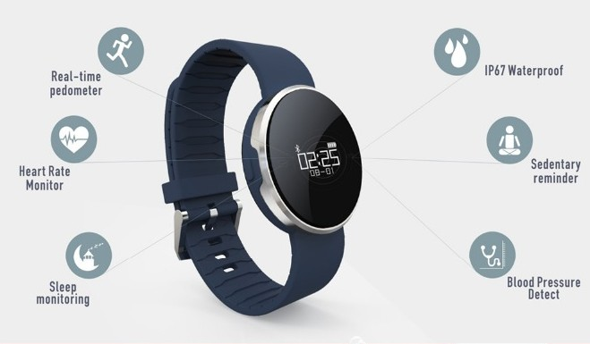 Bluetooth Sports Wristband Heart Rate Smart Watch Blood Pressure Monitor IP68 Waterproof Heart Rate For Xiaomi