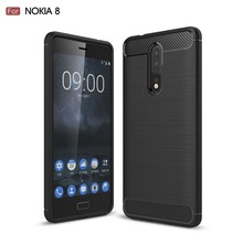 Soft Brush TPU Case For Nolkia 8 Case Carbon Fiber Cover Fashion Back Cover For Nokia 8 Case