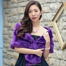 wholesale Women's new all-match thickened fake fur shawl Lapel hair supple wedding shawl