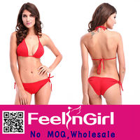Red bikini set lady sexy bathing suits for women