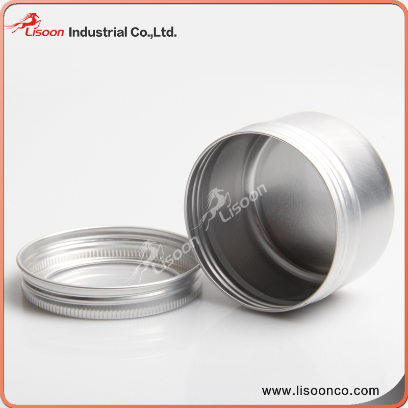 80g 100g 150g aluminium jar with window lid for body cream
