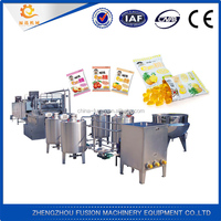 automatic cotton candy production line/jelly candy machine
