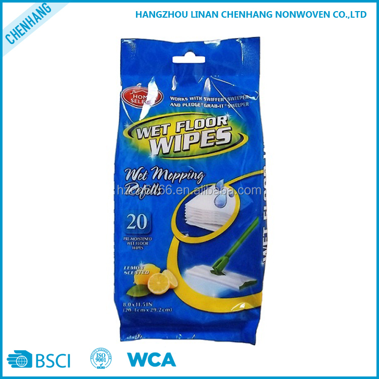 Viscose Polyester Household Mopping White Cleaning Wet Floor Wipes