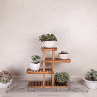 Wood plant stand shelf flower pot stand plant pot rack for garden and room