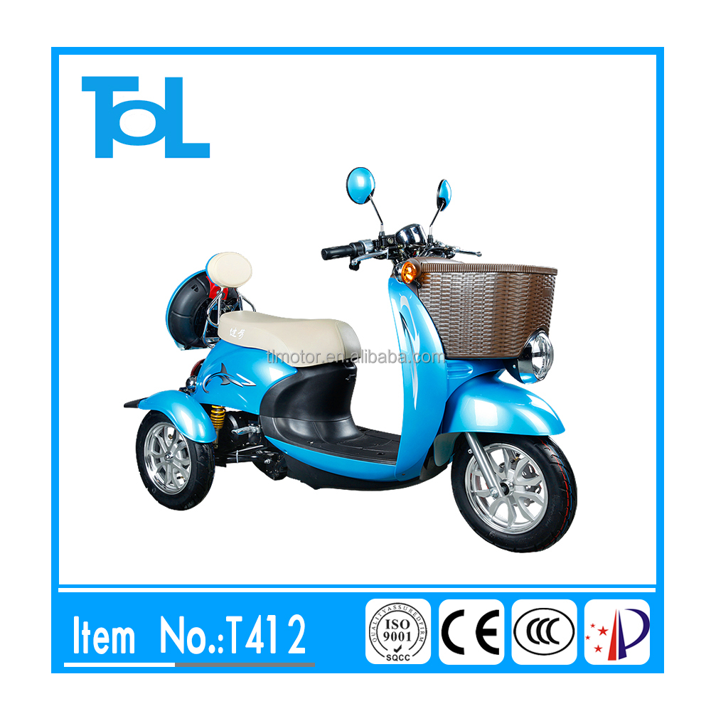 3 wheel electric tricycle scooter for handicappe with brushless motor