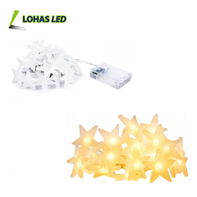 Solar/Battery powered LED String Light 2m 20 bulb Star colorful waterproof Led String Light outdoor Christmas Decoration holiday