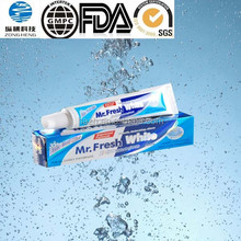 45G Mr.fresh white Toothpaste fresh mint flavor for smokers removing tar,fluoride free toothpaste