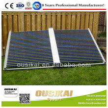 Vacuum tubes solar collector for swimming pool heating