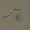 BXG021 Stainless Steel Ear Wires Coil Fish ear hook , earring findings for Jewelry-Making
