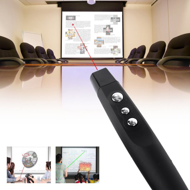 Hot Wireless USB PowerPoint Presenter Remote Control Laser RF Pointer Pen PP-1000 Free ship