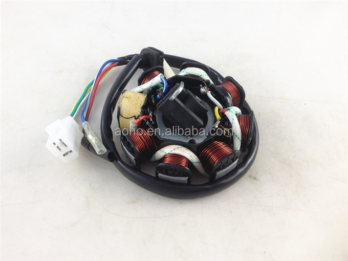 high quality 5 wires 8 pole GY6 50CC scooter motor stator coil for Jonway 125cc