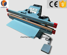 CH-450X2 Aluminium Frame Foot Sealing Machine For Plastic Bags With CE