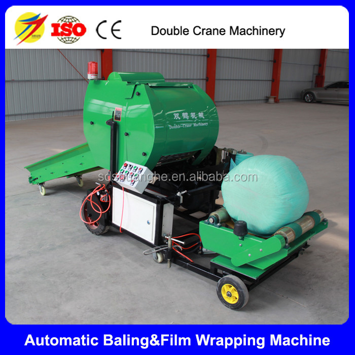 silage wrapper machine, automatic silage baling machine for livestock