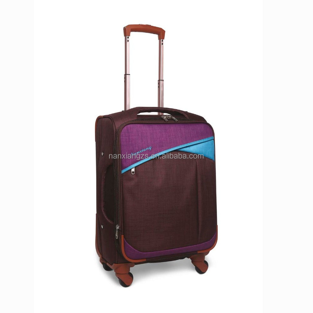 Fashion Customized Design Soft Luggage , Wheeled Fabric Suitcase