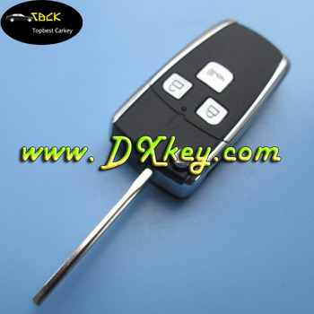 3 buttons remote key fob replacement for Toyota Corolla VIOS folding key blank