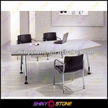 Popular marble top design acrylic Solid Surface office desk system