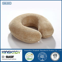 U shape ring car seat travel soft neck care bamboo memory foam neck pillow