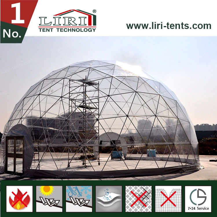 Waterproof Transparent PVC Coated Polyester Tent Fabric Material