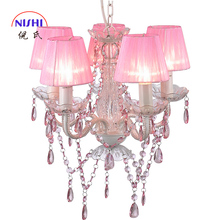 Nis NS-120148+S Large Crystal Chandelier Wedding Centerpiece Pink Chandelier