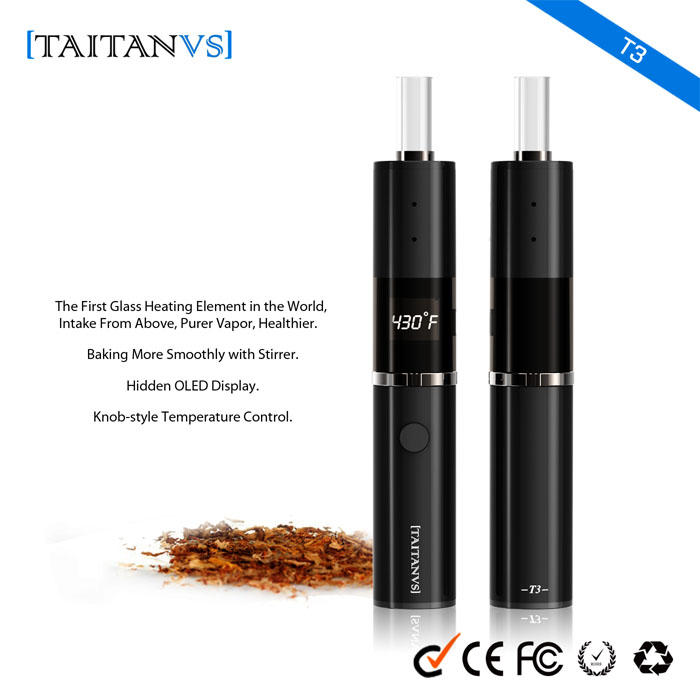 Alibaba 2016 online shopping new arrivals glass vaporizer electrical empty cigarette tubes Taitanvs-T3