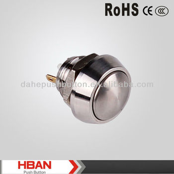 CE ROHS HBGQ12B series Metal Push Button Switches