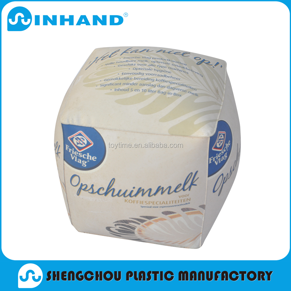 2016 Promotional Wholesale Logo Customized Printed pvc inflatable big milk bag shape ball For promotion