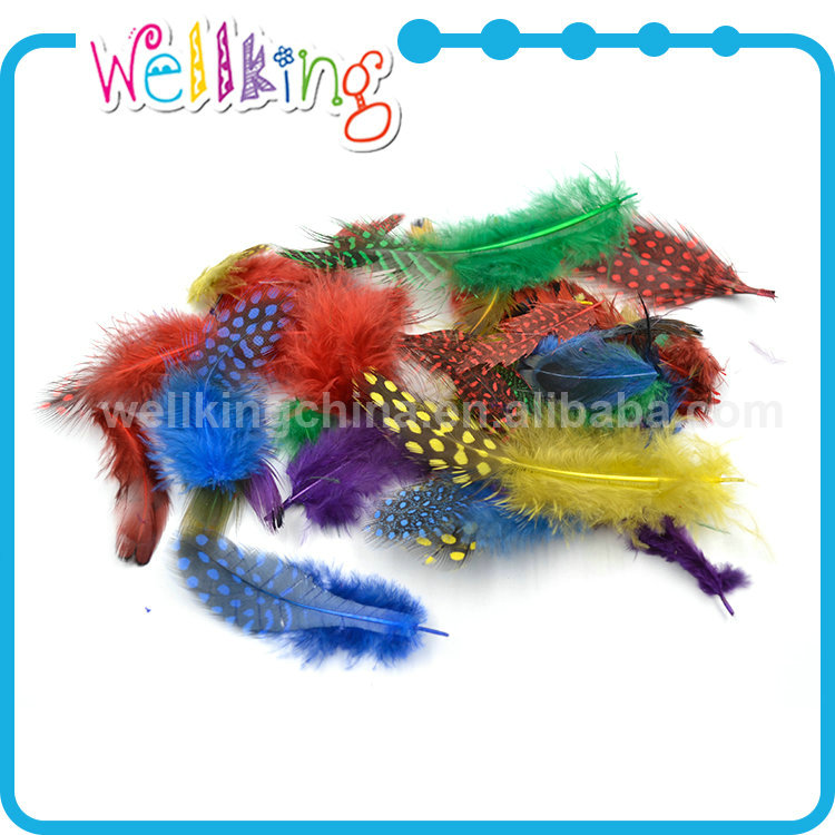 Hot selling colorful owl feathers for sale