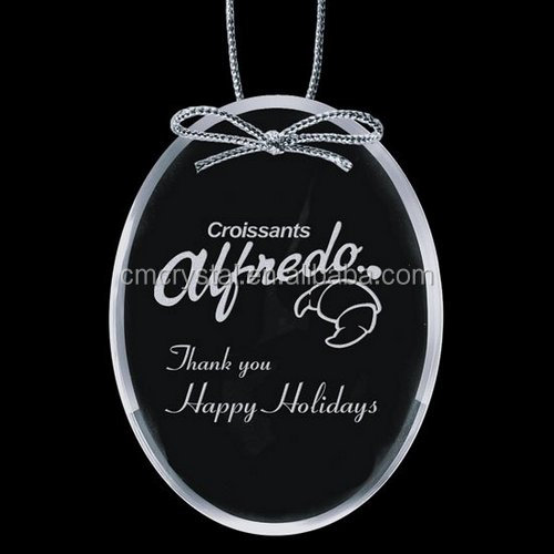 Oval Crystal Ornaments,Glass Oval Ornaments Manufacturer CCO040