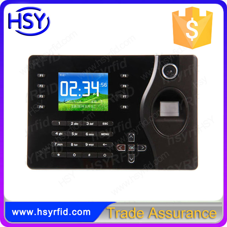 Professional Employee Fingerprint Time Attendance Machine Software with RFID Card