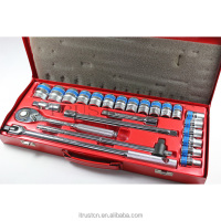 "24PCS 1/2"" metal box socket set with F handle 4024AAF GS KING TOOLS made in china"