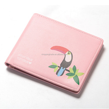 Wholesale Women Cute Wallet Cartoon Birds Pattern Small Purses