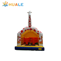 huale customized size Inflatable bouncer castle Big Inflatable bourcer house Giraffe pattern